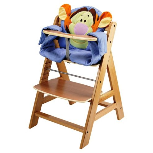 Hauck Alpha Wooden Highchair With Disney Pad, Tigger