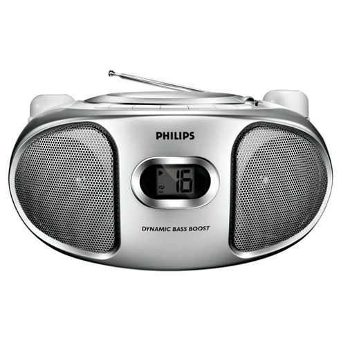 Philips AZ102S/05 CD Boombox Silver