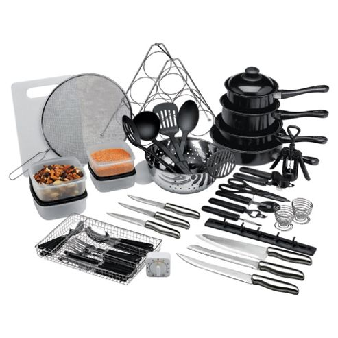 50 Piece Steel And Non-Stick Kitchen Starter Set