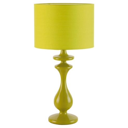 Tesco Lighting Spindle Table Lamp, Lime