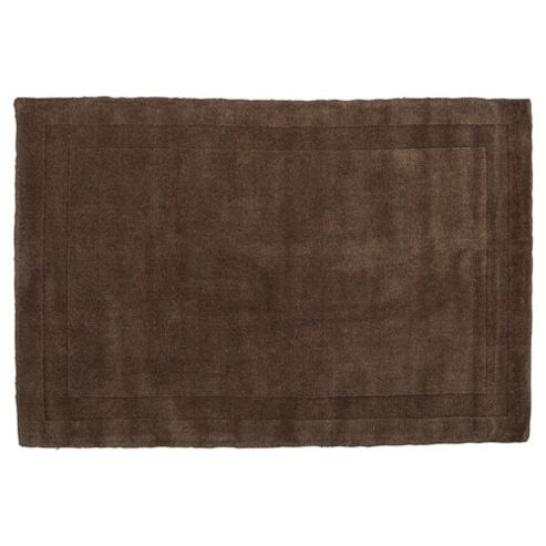 Tesco Rugs Wool Rug 100 x 150cm, Mocha