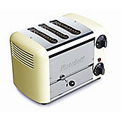 Rowlett Rutland Esprit 3 Slice Thick and Thin Toaster with 2 Thin and 1 Thick Bun Mode Slot - Cream