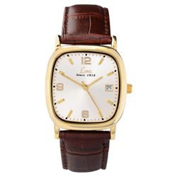 Limit Mens Brown Leather Strap Watch