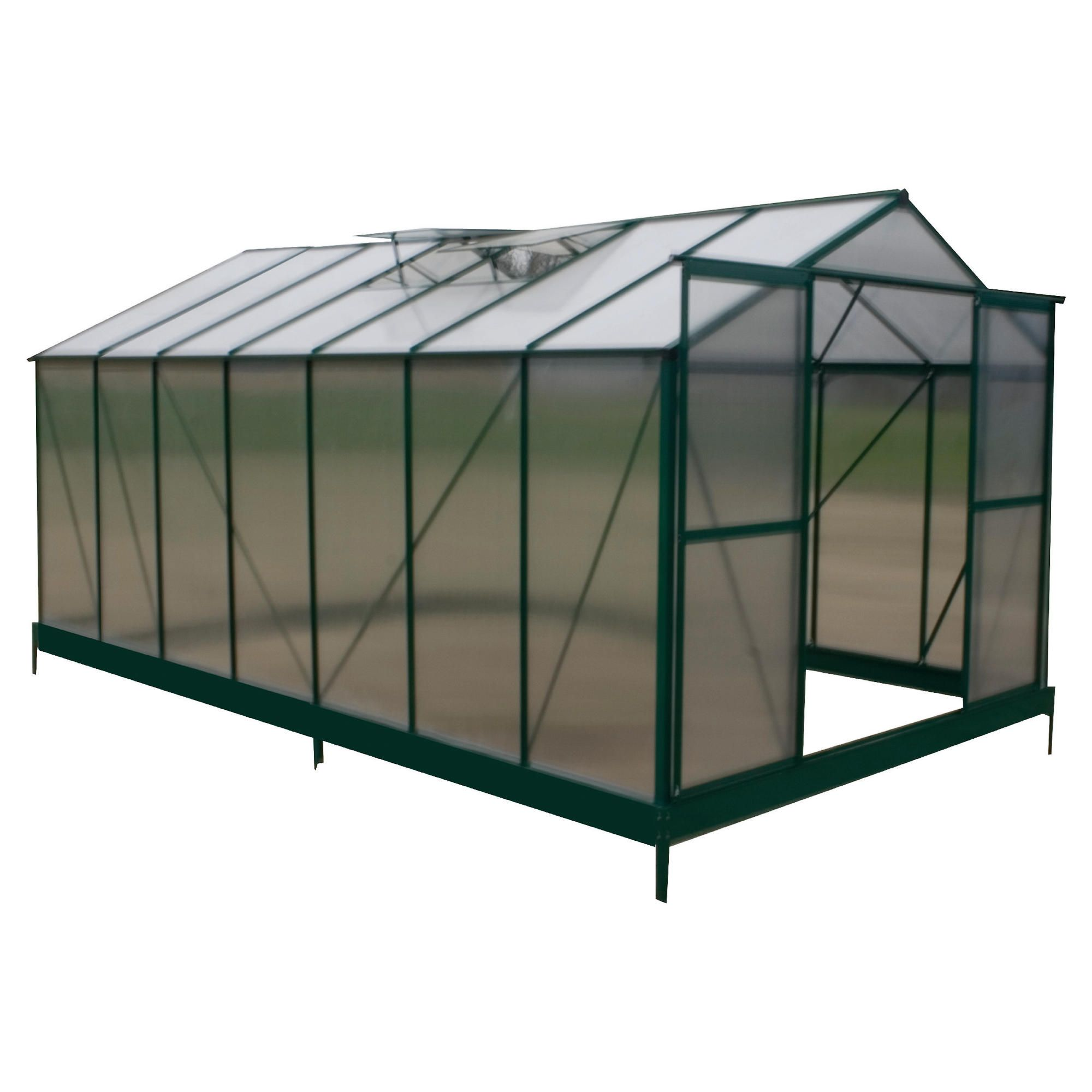 Mercia 14x8 Polycarb Greenhouse at Tesco Direct