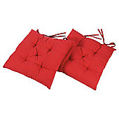 Tesco Red Seat Pads 2 Pack