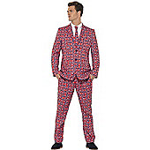 Union Jack Patterned Stand Out Suit Medium
