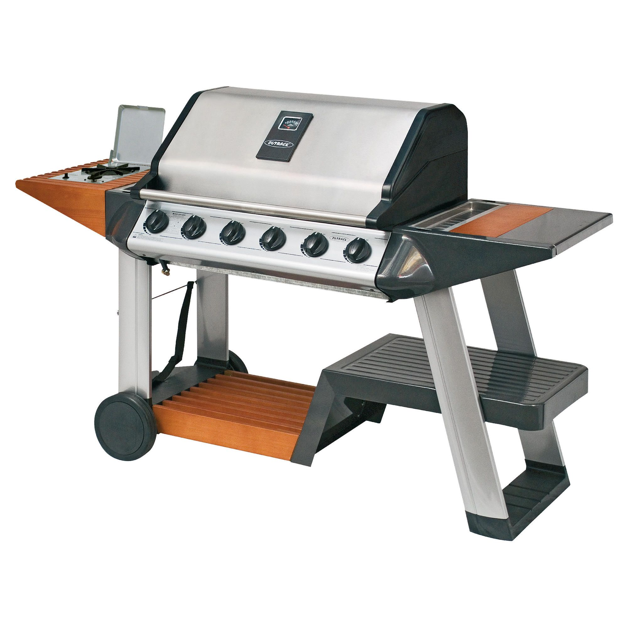 Outback Excelsior 6 Burner Gas BBQ with Cover at Tesco Direct