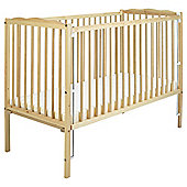 Saplings Jessica Cot With Mattress, Natural