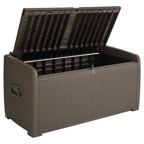 Keter Rattan Effect Plastic Storage Box with seat