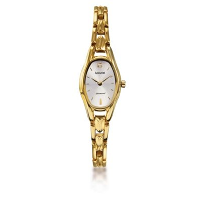 Accurist Gold Diamond Bracelet Watch