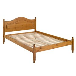 Woodbury Double Bed Frame, Antique Pine