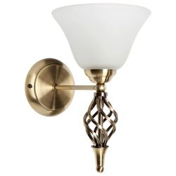 Tesco Lighting Twisted Antique Brass Wall Fitting