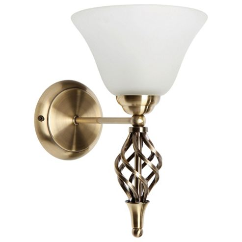 Buy Tesco Lighting Twisted Antique Brass Wall Fitting from our Glass Lamp Shades range - Tesco