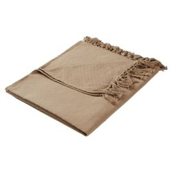 F&F Home Diamond Cotton Throw - Mocha