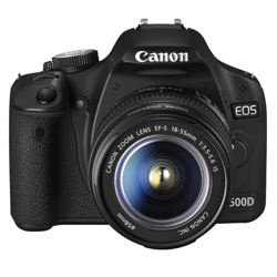 Canon EOS 500D 15.1MP Digital SLR Camera inc EF-S 18-55mm IS Lens Kit