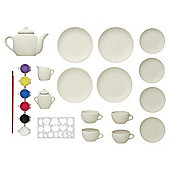Tesco Sparkle & Glitz Paint Your Own Tea Set
