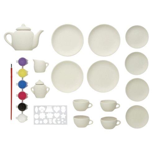 Sparkle & Glitz Paint Your Own Tea Set