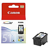 Canon CL-511 Printer Ink Cartridge - Tri-Colour
