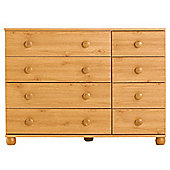Addison 8 Drawer Chest, Pine Effect