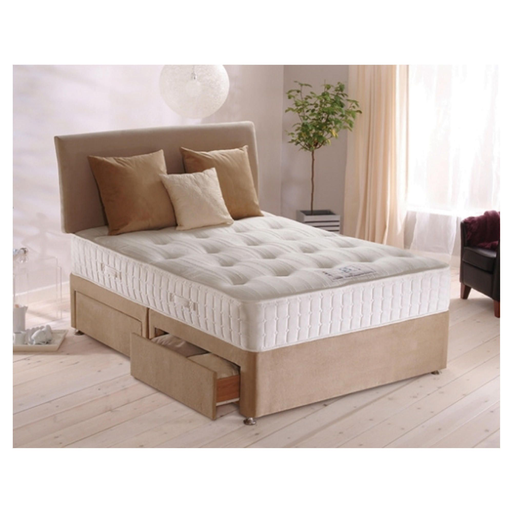 Sealy Purity Pocket Ortho Double Non Storage Divan Bed at Tesco Direct