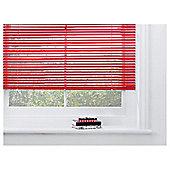 Sunflex Aluminium Venetian Blind, Red Gloss 90Cm