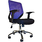 Alphason Atlanta Mesh Back Operator Chair - Black and Purple