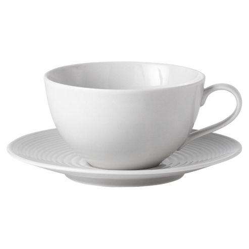 Gordon Ramsay Set of 4 Teacups and Saucers, Grey