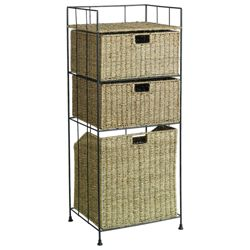 Seagrass Laundry Basket With 2 Drawers