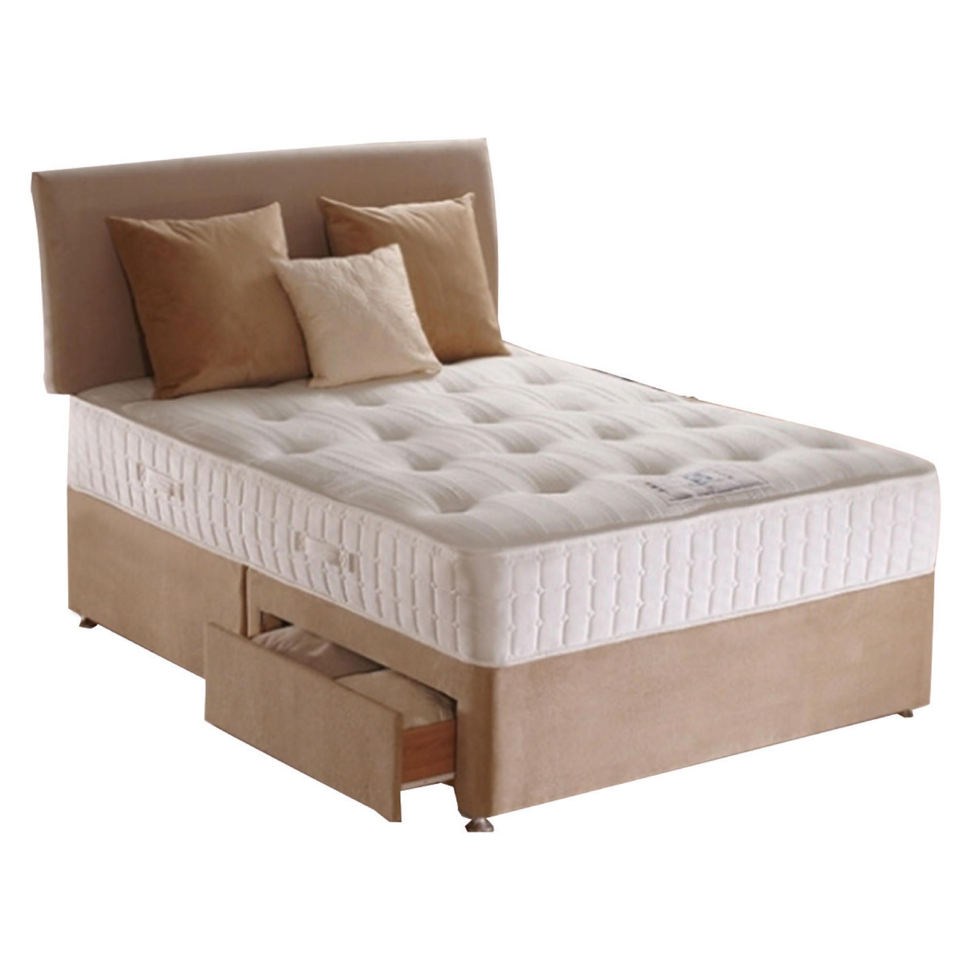 Sealy Purity Pocket Ortho Double 2 Drawer Divan Bed at Tesco Direct