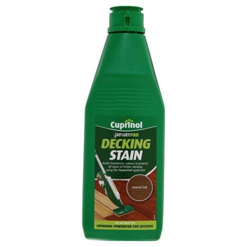 Cuprinol Power Pad Decking Stain, 1L, Natural Oak