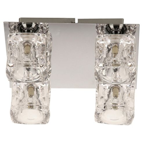 Tesco Lighting Ice Cube Flush Ceiling Fitting