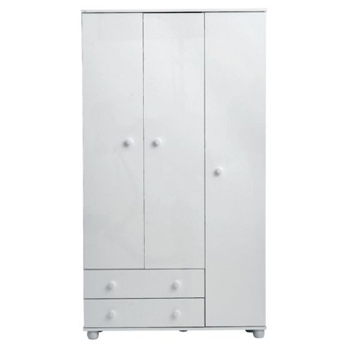 Addison 3 Door Wardrobe, White