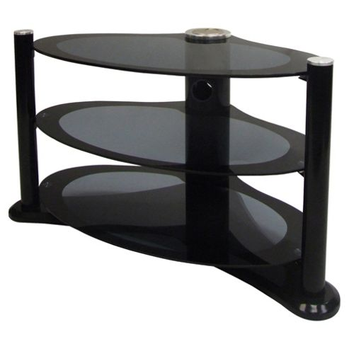MODUS - Unique Shape Black Plasma / LCD 37 inch TV Stand