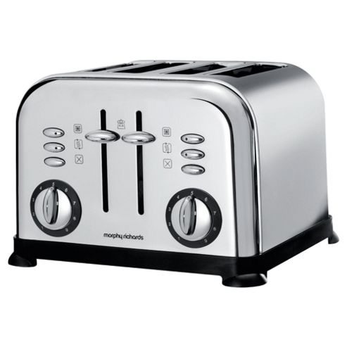 Morphy Richards 44039 Accents 4 Slice Toaster - Silver