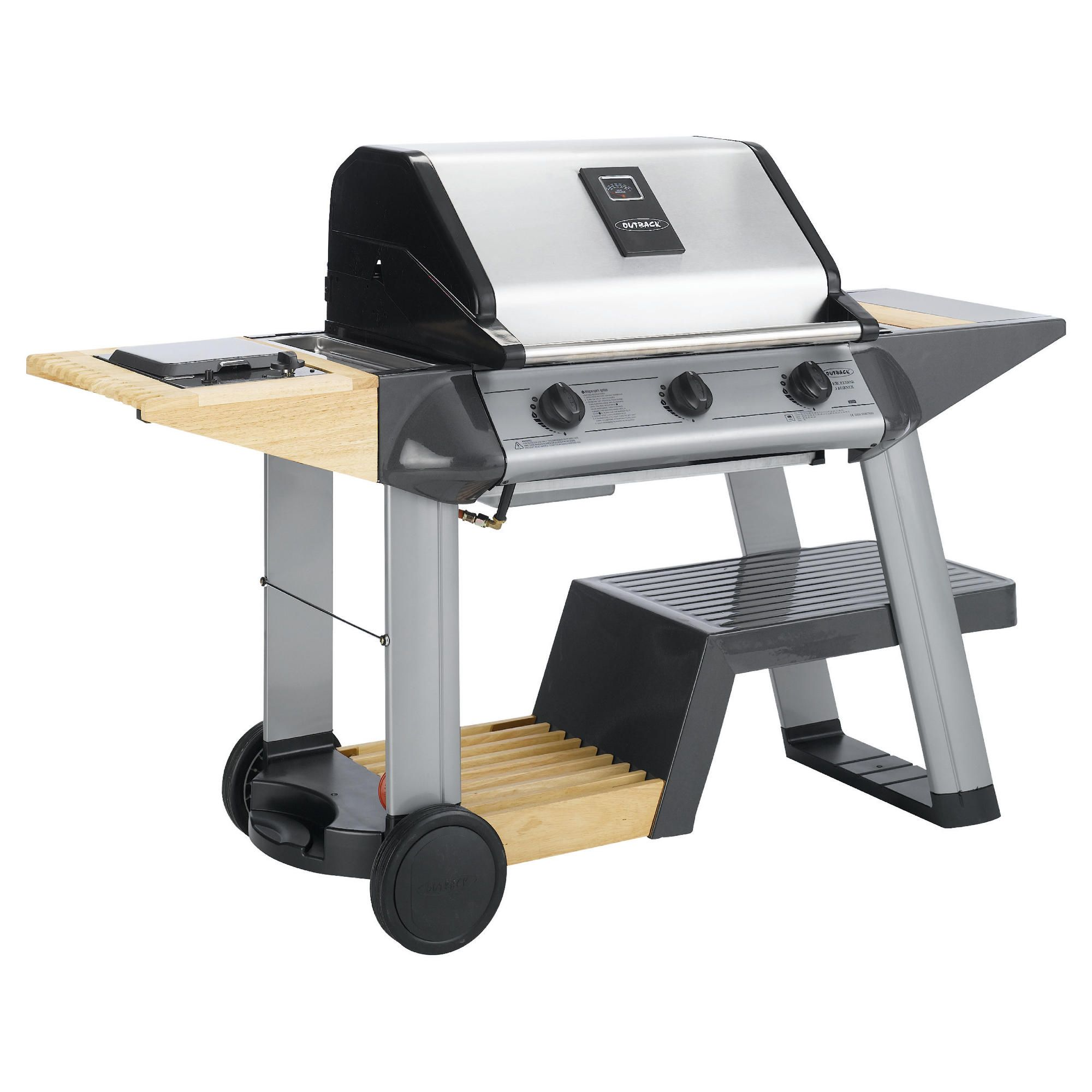 Outback Excelsior 3 Burner Gas BBQ with Cover at Tesco Direct