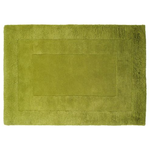 Tesco Rugs Tiered Wool Rug, Green 120X170Cm