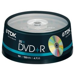 TDK DVD+R spindle - pack of 25