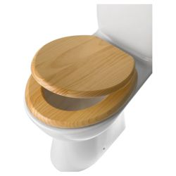 Tesco Light Wood Toilet Seat, Natural Pine