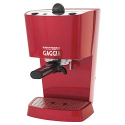 Gaggia 74840  1.25 Espresso 1 Cup Coffee Machine - Red