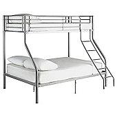 Mika Trio Bunk Bed Frame, Silver