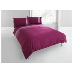Tesco Nanza Duvet Set Double, Plum