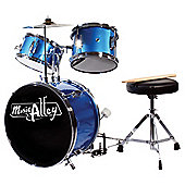 Music Alley 3 Piece Junior Drum Kit - Blue