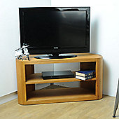 Oceans Apart Cadence Corner TV Stand - Natural Oiled