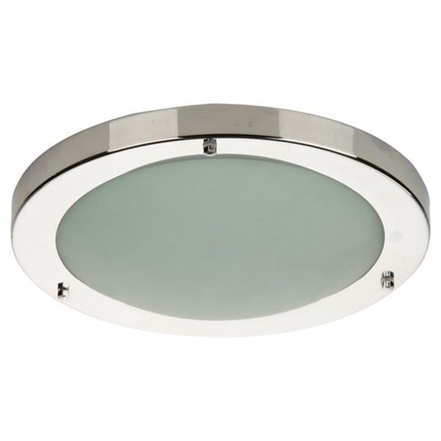 Buy Tesco Lighting Chrome Flush Bathroom Ceiling Light With Marble Glass From Our Novelty