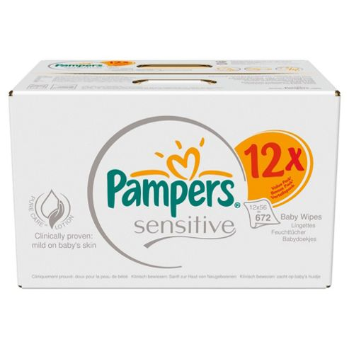 Pampers Sensitive Baby Wipes 12 packs - 672 wipes