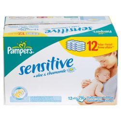 Pampers Wipes Sensitive 12 Pack = 672