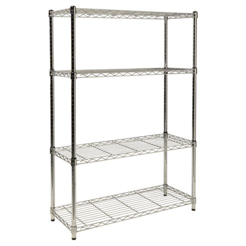 Clarke 4-Tier Boltless Wire Shelving, Black
