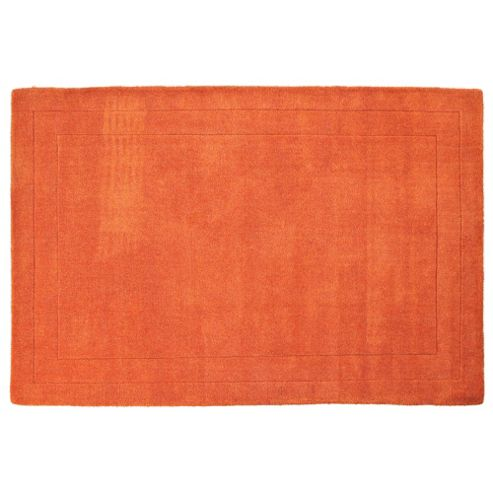 Tesco Rugs Wool Rug, Terracotta 100x150cm