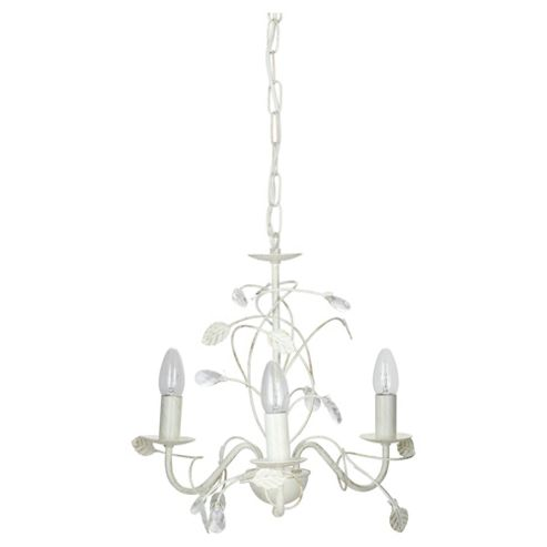 Tesco Lighting Ashley 3 Light Floral Ceiling Fitting