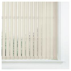 Vertical Blind Cream W122Xdrop137Cm